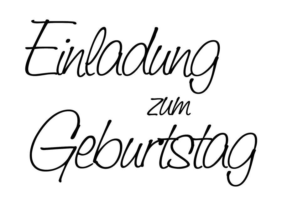 stempel einladung zum geburtstag - bastel-creativshop.de, Einladung