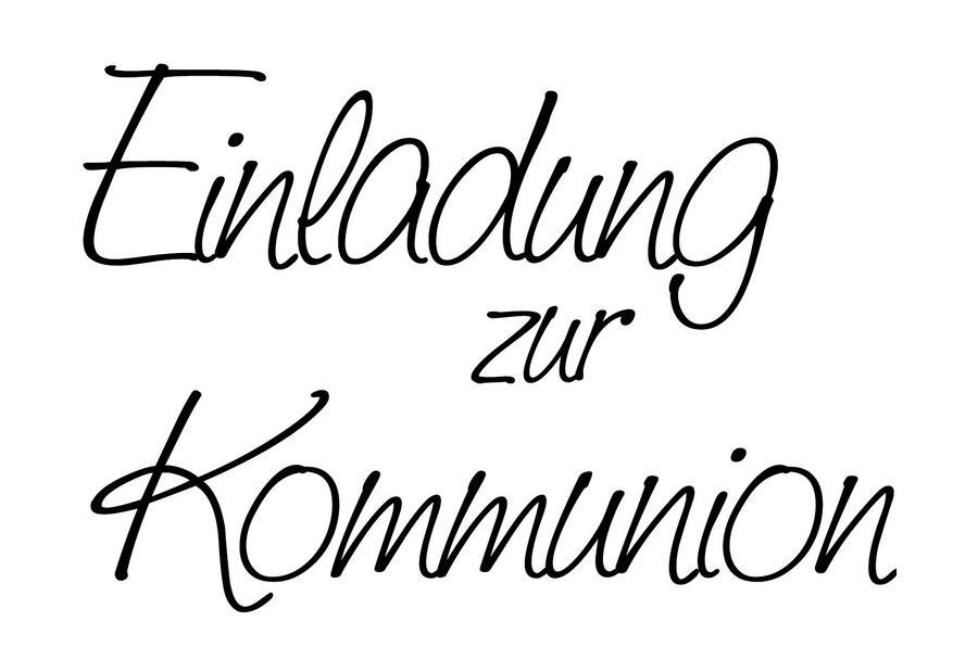 stempel einladung zur kommunion - bastel-creativshop.de, Einladung