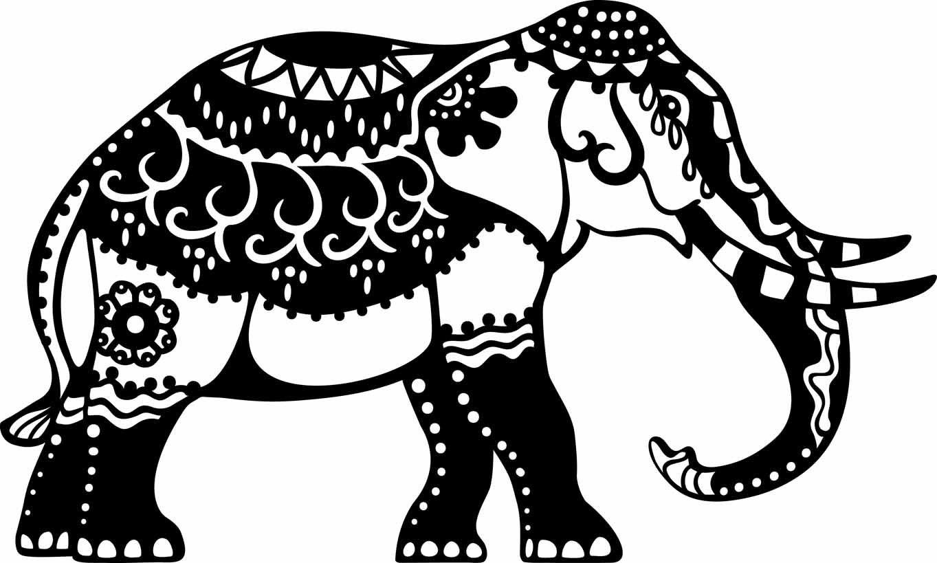 schablone elefant a4 bastel. Black Bedroom Furniture Sets. Home Design Ideas