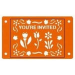 Fiskars Card-Boss Schablone You´re Invited